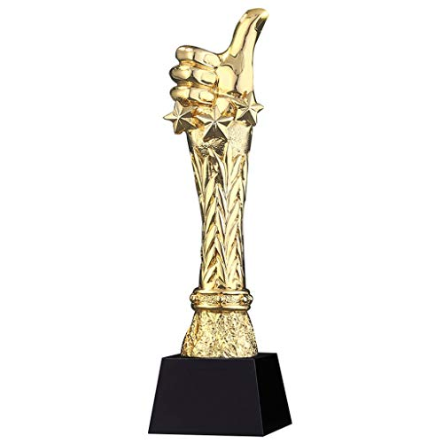 Trofeeën Duim Trofee Gouden Kampioen Trofee Bedrijf Jaarlijks Kampioenschap Trofee Leren Boekenkast Decoratie Moedigen Kinderen Te Belonen Kan Trofee Voor Berichten
