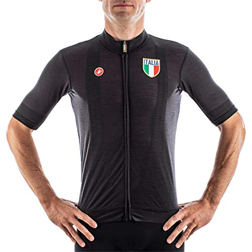 CASTELLI 4520116-085 Italia 2.0 Jersey Uomo Light Black M