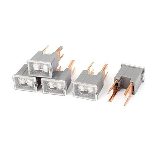 uxcell カーPALヒューズ ブロックヒューズ グレー 5個 PAL 120Aオスボルト アルミ製