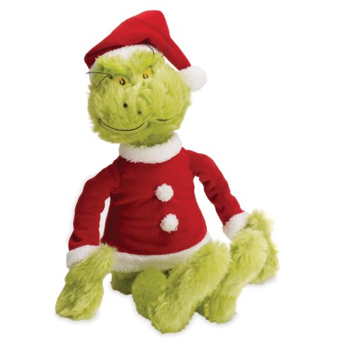 The Grinch Soft Toy in Christmas Santa Suit