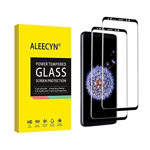 2 Pezzi Vetro Temperato per Samsung Galaxy S9, Pellicola Protettiva Vetro Samsung Galaxy S9 [3D Copertura Completa] [Durezza 9H] [Senza Bolle] Protezione Schermo Samsung Galaxy S9