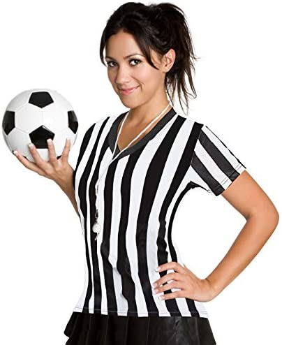 ChinFun Referee Shirts Women s Volleyball Soccer Sports Umpire Jersey Refs Costume Short Sleeves product image