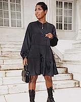 The Drop Minivestido para Mujer, de Corte Escalonado con Cierre de Botones Frontal, Negro, por @highlowluxxe,M