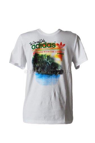 adidas - Camiseta - para hombre, color Blanco, talla S