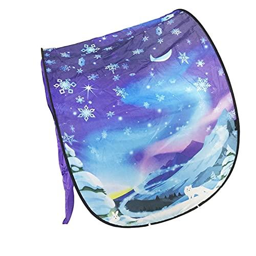 SONG Tienda de Carpa, carnet portátil Plegable de Dibujos Animados para niños, reconfortante para niños para niños para niños, con Luces de Estrella (Color : C)