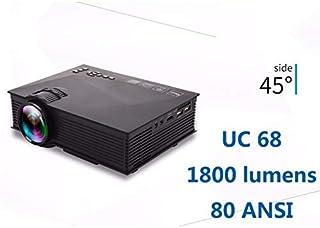 جهاز عرض نانو كلاسيك UNIC UC68 فل اتش دي ليد واي فاي 1800 لومي/إير بلاي / ميراكاست / اتش دي إم آي / إس دي / إيه في جي إيه / دي إل إيه أو دي إل إيه إيه جهاز عرض محمول أفضل من يونيك UC46