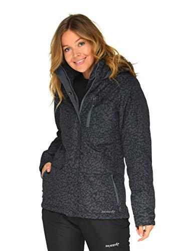 SkiGear Women's Daybreak Insulated Jacket, Leopard Steel, X-Large