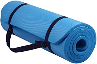 Balance From Go Yoga All Purpose Anti-Tear Exercise Yoga Mat with Carrying Strap, Blue (BFGY-AP6BL)