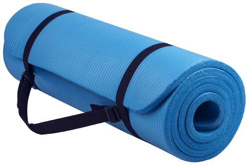Everyday Essentials 1/2-Inch Extra Thick High Density Anti-Tear Exercise Yoga Mat with Carrying...