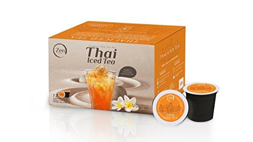 Zen Thai, Thai Iced Tea, Thai Tea, Single-Cup, K-cup Pods (Pack of 12)