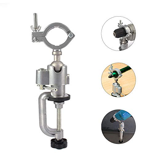36mm-43mm 360 Degree Table Bench Clamp Vise Electric Drill Rack Support Electric Drill Stand Holder Multifunctional Bracket For Electric Drill, Grinder,Rotary Tool,Hobby and Jewelry Ma(A Type:36-43mm)
