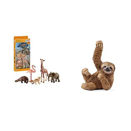 Schleich 42388 - Wild Life Tier-Mix & 14793 - Faultier