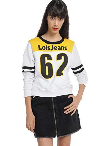 LOIS JEANS - Sudadera para Mujer   Sudadera con Corte Premium   algodón   Tallaje en Pulgadas   Talla Inch - XL