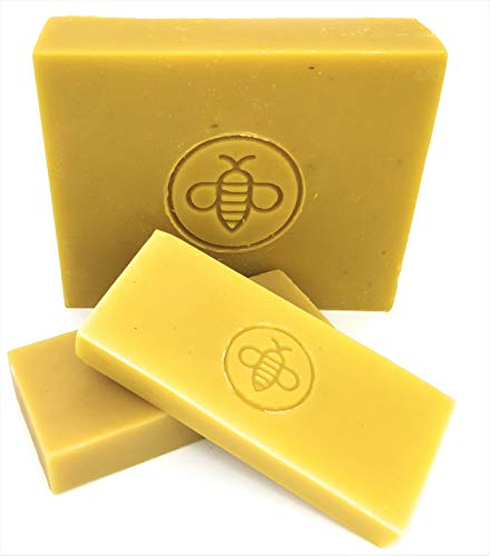 Basic Honey Beeswax Brick - 100% All Natural from American Bees - Cosmetic Grade (1 lb)
