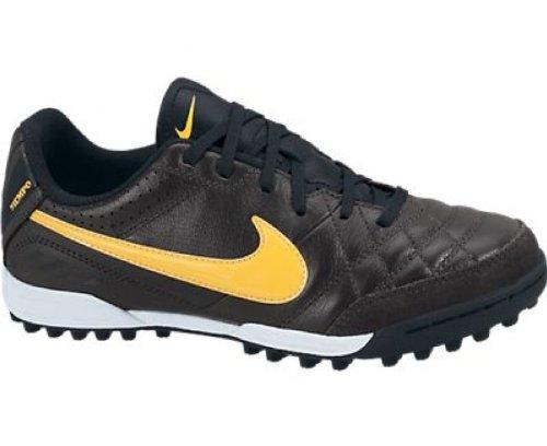 Nike Nike Niños Fútbol Guantes » Tiempo Natural IV LTR TF «, Color - Dark Charcoal/Laser Orange, tamaño 4,5Y