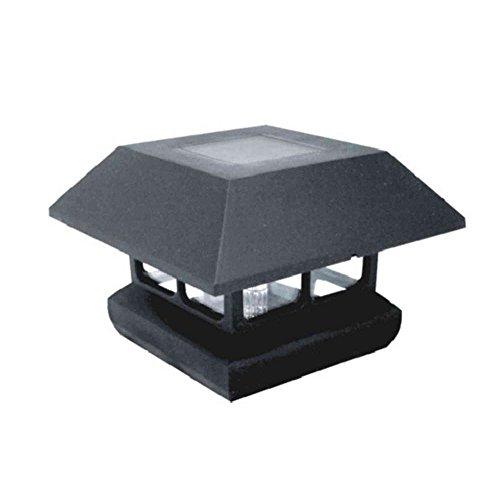 Veranda 4 in. x 4 in. Solar-Powered Post Cap for Deck or Fence, Black (12 PACK)