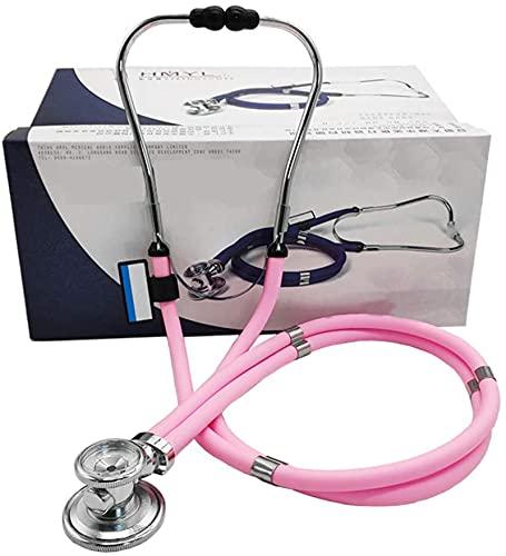 Estetoscopio médico estetoscopio doble cabeza doctor doble tubo profesional fetal corazón embarazada mujer fetal sonido claro 32.28 pulgadas