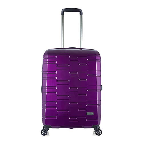 Antler Prism NX, Durable & Ultra Lightweight Hard Shell Suitcase - Colour: Purple, Size: Medium