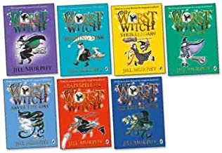 Jill Murphy Worst Witch 7 Books Collection Pack(The Worst Witch Saves the Day,The Worst Witch,The Worst Witch All at Sea,A Bad Spell for the Worst Witch,The Worst Witch and The Wishing Star,The Worst Witch to the Rescue,The Worst Witch Strikes Again)