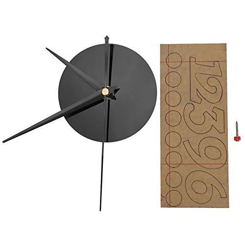 Redxiao 【𝐎𝐟𝐞𝐫𝐭𝐚𝐬 𝐝𝐞 𝐁𝐥𝐚𝐜𝐤 𝐅𝐫𝐢𝐝𝐚𝒚】 Reloj de Pared Duradero, Adorno casero de Bricolaje, decoración de Pantalla de Tiempo Negro para habitación de hogar