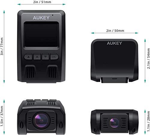 AUKEY 1080p Dashcam Vorne und Hinten【Verbesserter Sensor】Autokamera mit 170 Grad Weitwinkel, Superkondensator, WDR Nachtsicht Kamera für Auto mit G-Sensor, Bewegungserkennung, Loop-Aufnahme - 4