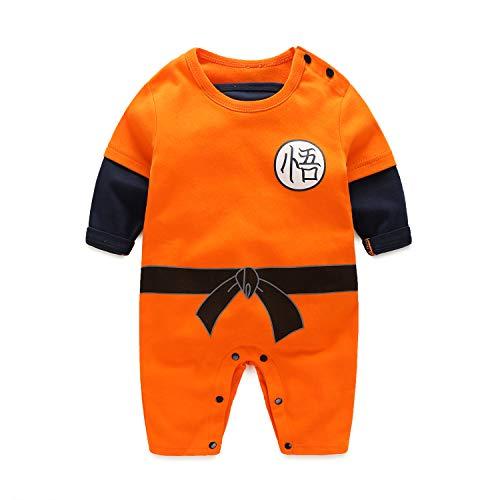 Beal Shopping Cosplay Baby Jongen en Meisje Draak Bal Z Romper Kostuum Jumpsuit Babykleding Oranje