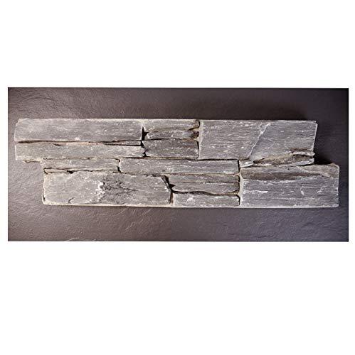 Brickstones, Mauerverblender, Wandverblender 60x20 cm, Naturstein auf Zement, schwarz, MOES518, 1 Kart. = 0,44 qm