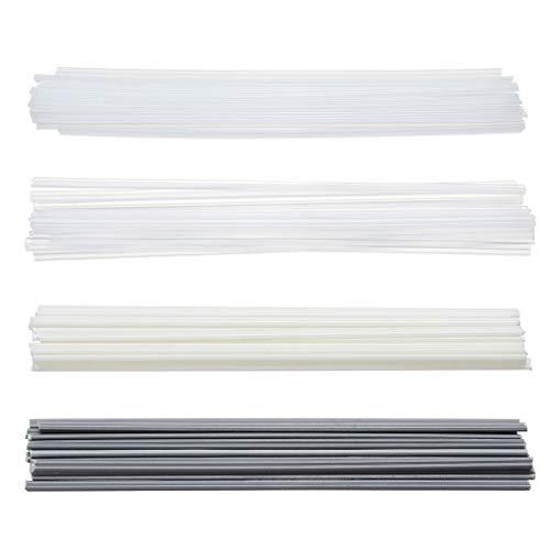 heacker 50pcs plástico ABS Varillas para soldar PVC PP PE Varillas para soldar Soldador de plástico y aparatos de soldar Sticks 200 mm Longitud