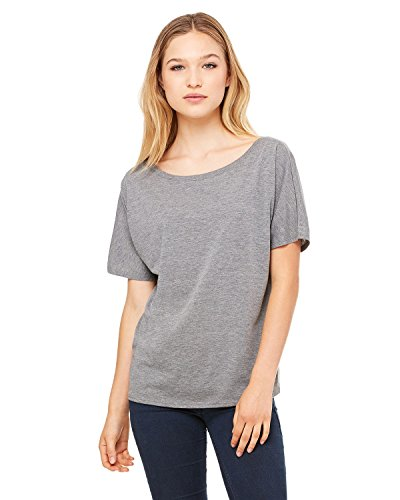 Bella + Canvas Ladies Slouchy T-Shirt - GREY TRIBLEND - S - (Style # 8816 - Original Label)