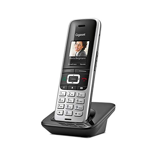Gigaset S850HX Universal-Mobilteil – Schnurloses IP-Telefon (zum Anschluss an Basisstation oder Router – Mobilteil mit innovativer Technologie in hochwertigem Design) platin-schwarz