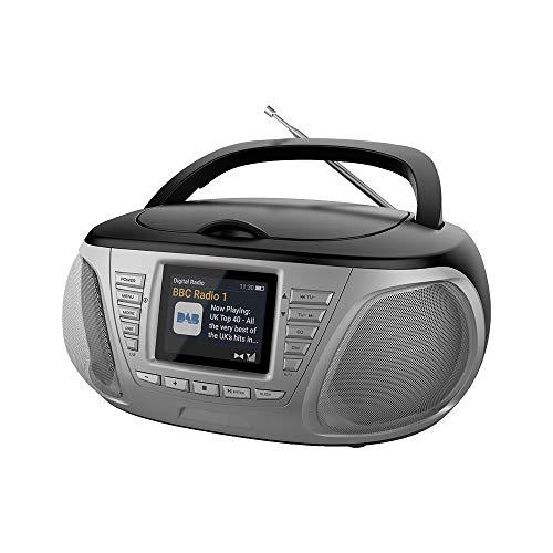 Stereo Lettore CD con Radio DAB Portatile Display LCD MP3 Boombox 33198