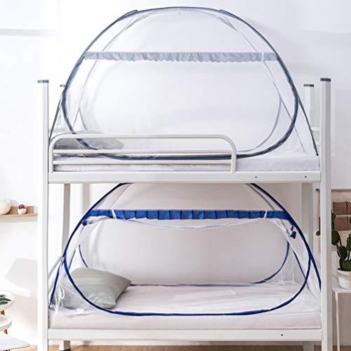 XGYUII Studentenslaapzaal yurt Muggennet Gratis Installatie Bovenste en Onderste Winkel Moeder Bed Kind Drop-proof Bed Patroon Opvouwbaar