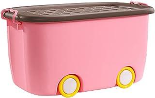 Enfants Toy Storage Boîte Panier Bac bleu Rose Bleu Orange Boîtes en plastique L XL Bouchons de rangement décoratifs avec ...