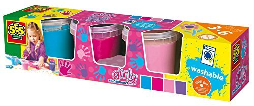 SES Creative Girly Washable Finger Paint, Set of 4 Colors by