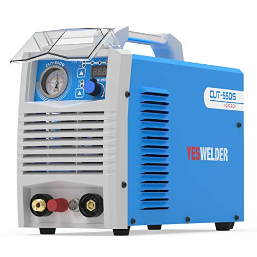 YESWELDER CUT-55DS, 55 Amp High Frequency Non-Touch Pilot Arc Digital Plasma Cutter, DC Inverter 110/230V Dual Voltage Cutting Machine