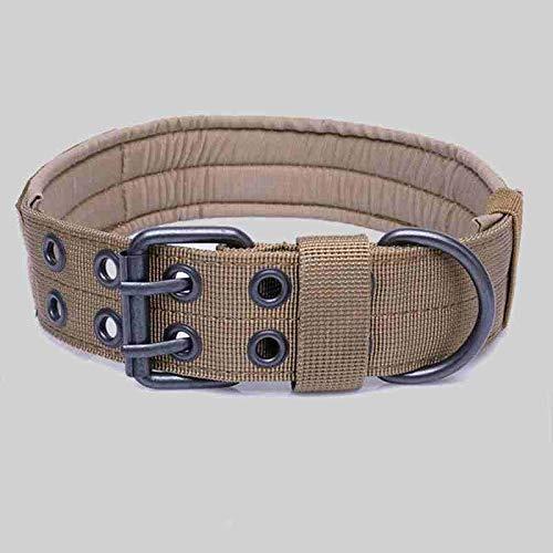 SHI-YUAN-M-DL, Collana di Cane Confortevole Regolabile da Caccia in Nylon con Cinturino per Cani (Color : Tan, Size : M)