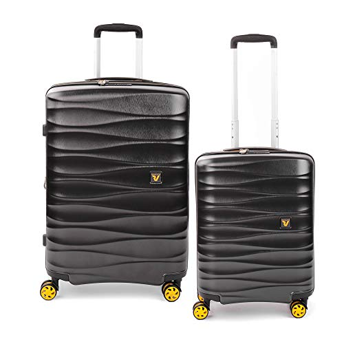 RONCATO Stellar set 2 maletas rígidas ampliables (medio + cabina) Antracita