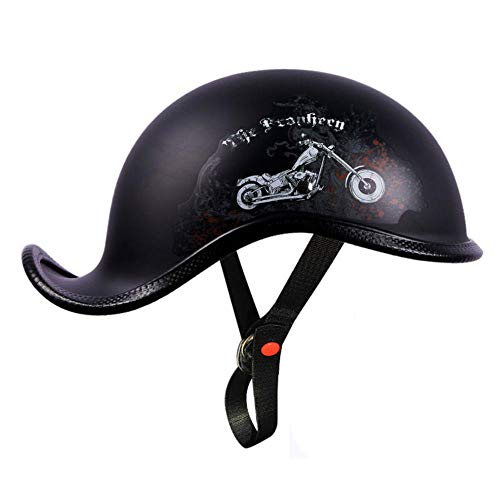 JLVAWIN Casco de moda para hombres y mujeres retro de béisbol modelado DOT aprobado cara abierta casco cráneo, 54-62cm-A_X-Large