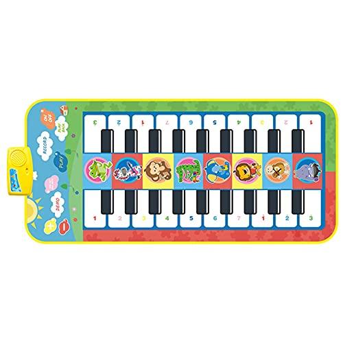 Alfombrilla de piano para niños, alfombrilla de piano con 20 teclas, portátil, juguete con 8 sonidos de instrumentos, esterilla de baile regalo para niños pequeños