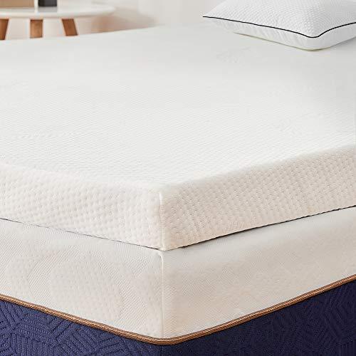 BedStory sur Matelas à Mémoire de Forme de 5cm, Surmatelas 90x190 Ergonomique avec Housse Amovible...