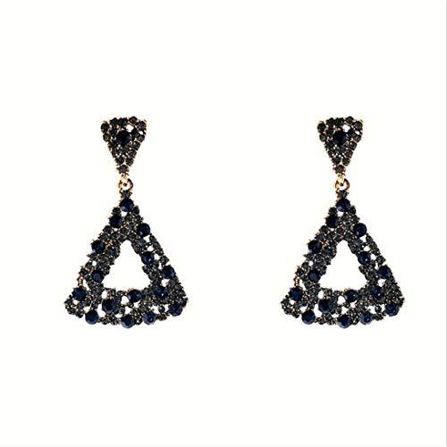 MAJFK Pendiente de tuerca con patrón de triángulo hueco para mujer, pequeño triángulo vintage, joyería regalo