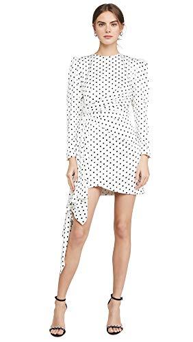 Keepsake Women's Foolish Long Sleeve Mini Dress, Porcelain/Black Polka Dot, X-Small
