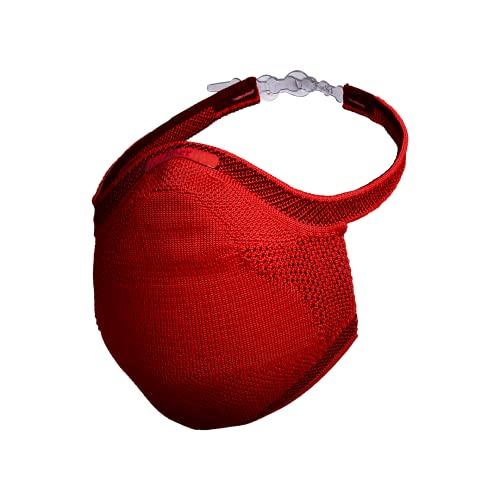 Máscara Esportiva Knit Fiber - Tamanho G, Vermelha
