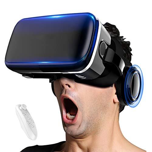 Occhiali VR 3D Visore Realtà Virtuale Compatibile con Tutti Gli Smartphone e Guarda Film per iPhone 12/11/X/8/7/6 for Samsung S10/S9/Note10/9 telefoni Android, 4.7-6.8in, H088ZJ