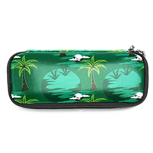 Estuche para lápices Estuche para oficina Almacenamiento grande Organizador de alta capacidad Cocón de la isla tropical de las palmeras para niños niñas estuche para lápices