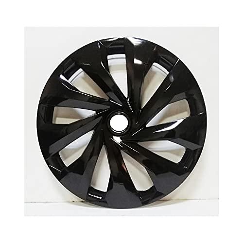Tapas De Cubo De Centro De Rueda tapas de cubo ce Cubierta de la rueda de la rueda del automóvil Compatible con VW R14 Piano Bright Black Hub Taps flexibles compatibles con Polo Lupo Golf Jetta Caddy