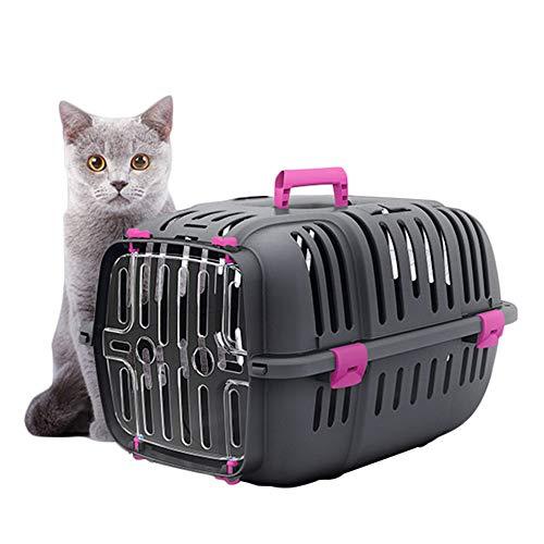Haustiertransport- und Reisekäfig Haustier Reisetragetasche Pet Flight Case Drop Boxes Tragbare Out Air Box Airline Approved Pet Carrier Pet Travel Kennel (Color : Orange, Size : 47X32X29cm)
