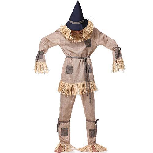 PAOFU-Disfraz de Cosplay de Espantapájaros para Adultos,Disfraces Paja Granjero Rendimiento de Vestuario