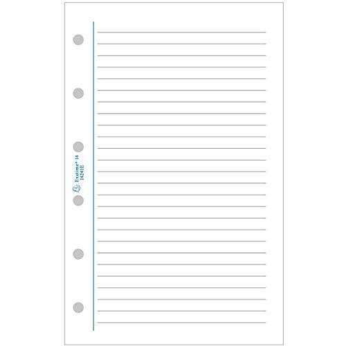 Exacompta - 18241E - Accessoire de recharge perforée - Feuillets Ligné - Accessoire pour Organiseur Exatime 17 - 10,5 cm x 17,2 cm - 44 Feuillets - 88 pages - Papier Blanc