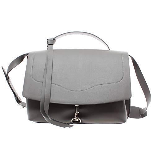 Rebecca Minkoff Damen Tasche HF18LSTS96HB 020 Stella Satchel Gray Leder Grau Neu